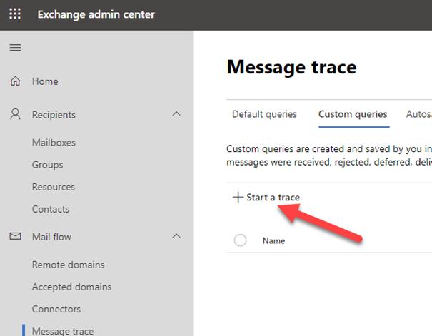 Exchange Nachrichtenfluss – Email Fluss nachverfolgen